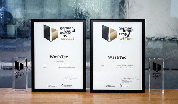 WashTec荣获两个类别的德国品牌奖!